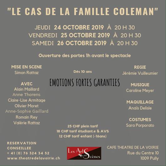 Le cas de la famille Coleman - Théâtre de la Voirie - verso